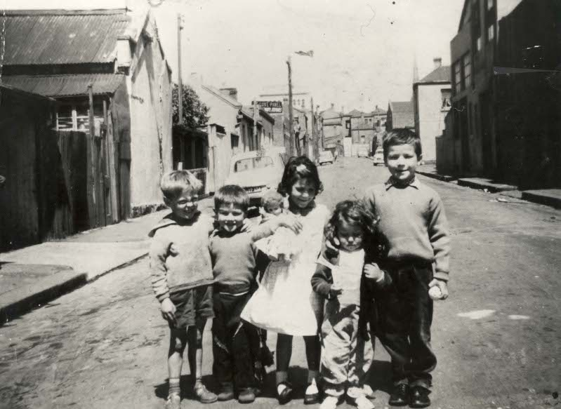 Children in Atherton Street, Fitzroy 1961