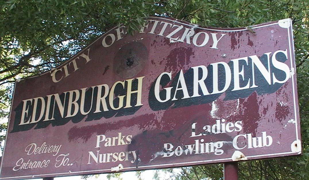 EdinburghGardenssignNorth Fitzro