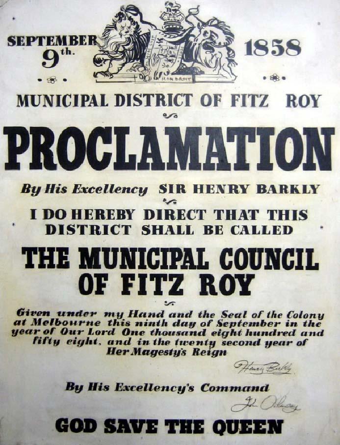 Fitzroy Proclamation